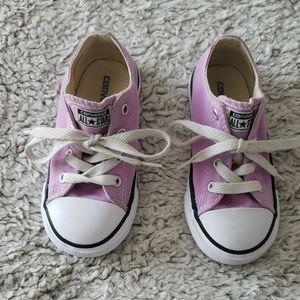 Little girls Converse shoes